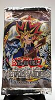 YuGiOh New Sealed Metal Raiders Booster Pack 1996 - English Rare Old Konami logo