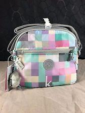 New $89 Kipling Keefe K Squared Seafoam Crossbody or Shoulder Bag Pastel Colors