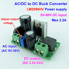 Mini AC/DC to DC Buck Step Down Adjustable Volt Converter 3.3V 5V 6V 9V 12V 24V