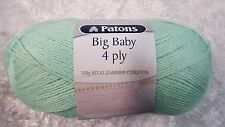 Patons Big Baby 4 Ply #2582 Peppermint 100g Acrylic
