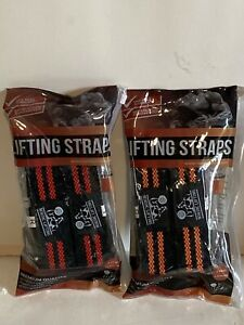 Lot Of (10) Nordic Lifting Straps (5 Pairs)  2 Red & 3 Orange Pairs NEW!!