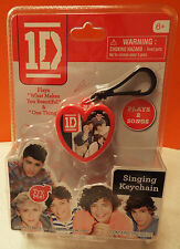 One Direction Musical Singing Keychain Key Chain 1D Songs One Thing & Beautiful