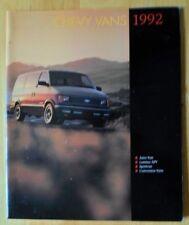 CHEVROLET Vans 1992 USA inchiostri Prestige BROCHURE-Astro LUMINO APV sportvan ETC