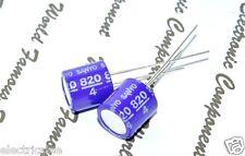 4pcs Sanyo 820uf 4v Osconos Con Radial Aluminum Solid Capacitors 4sp820m