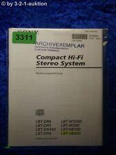 Sony Bedienungsanleitung LBT XB500 XB700 W300 DR6 DR5 DR4 DR440 W5000 (#3311)