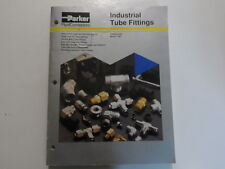1991 Parker Connectors Industrial Tube Fittings Catalog Manual FACTORY OEM