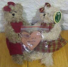Bearington Sweet Blessings Teddy Bears W/ Heart Plush Stuffed Animal Toy New