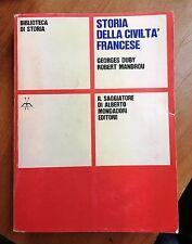 61146 Duby e Mandrou - Storia della civiltà francese - Il Saggiatore 1968 (I ed)