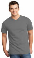District Men's V Neck Casual Short Sleeve 100% Cotton Basic Tee XS-4XL. DT6500