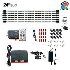 "Cyron LED RGB MULTICOLOR TV Accent Cabinet Lighting Kit 6 x  24"" LED Bars ETL"