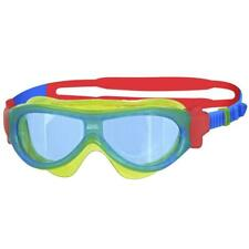 Zoggs Phantom Kids Mask In Lime/Blue For Swimming For Children 1-6 Years