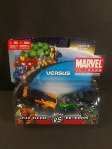 "Marvel Universe VERSUS Die-cast Car Set ""The Thing VS Dr. Doom"" maisto MOC"