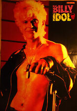 1 german poster Billy Idol Shirtless Punk Rock Boy Band Singer Boys Popcorn Hunk