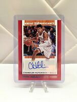 2019-20 Panini Hoops Great Significance Chandler Hutchison Auto Chicago Bulls