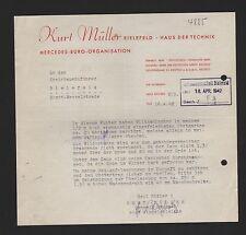 BIELEFELD, Brief 1942, Kurt Müller Haus der Technik Mercedes-Büro-Organisation