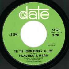 """PEACHES AND HERB 45: """"Ten Commandments Of Love / What a Lovely Way""""  1968  VG(+)"""