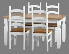 Pine Dining Tables Sets with 5 Pieces