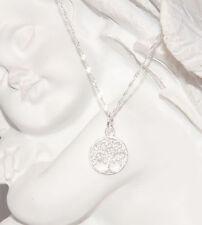 Silberkette mit filigranem Anhänger Baum des Lebens 925 Silber Kette Damen