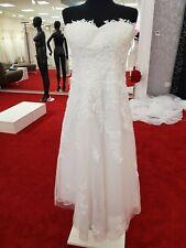 Neu Brautkleid ivory 7/8 Länge Gr.40 v.fashion dress Spitze Standesamt