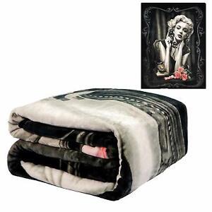 DGA Rockabilly Marilyn Monroe Heart Breaker Flannel Plush Queen Size Blanket