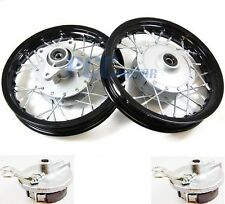 "Front Rear Alum wheels rims 10"" w/ Brake Shoes STOCK CRF50 XR50 Dirt Bike RMFR+"