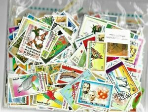 World Thematic Large Pictorial 100 pcs Off Paper Stamps Collection Lot Worldwide