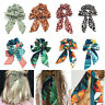 Hair Bands Boho Ponytail Tie Scrunchies Bow Scarf Ribbon Hair Rope Elastic Print