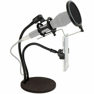 Technical Pro LiveShow2M Social Media Stream Broadcast Kit Stand + Mic Holder