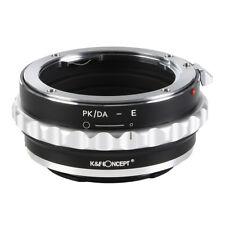 K&F Concept PK/DA - E Adapter Ring for Pentax K/M/A/FA/DA Lens to Sony E Camera