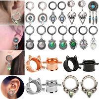 1 PAIR EAR GAUGES EAR PLUGS DANGLE FLESH TUNNELS EAR STRETCHING JEWELRY