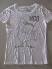 Hollister by Abercrombie White Top/Shirt Rhinestone Seagull Design / M / BNOT