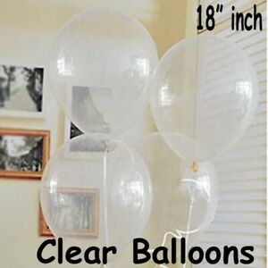 "Round Clear 18"" inch Balloons Transparent for Wedding Birthday Party Celebration"
