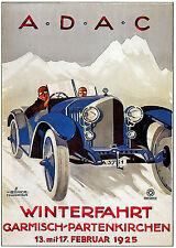 Sport Automobile Voiture winterfahrt 1925 vintage ad Motor Racing poster print A4
