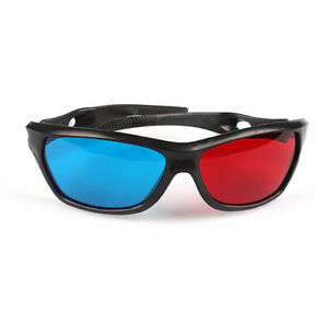 3D Glasses Red Blue Black Frame For Dimensional Anaglyph TV Movie DVD Game HOT