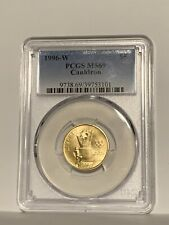 1996-W $5 Olympic Cauldron Gold Commemorative Coin PCGS MS69
