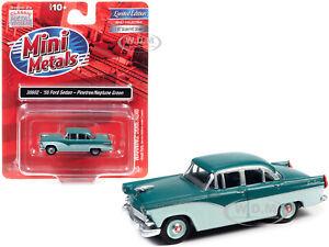 1955 FORD 4-DOOR SEDAN 2-TONE GREEN 1/87 HO MODEL CAR CLASSIC METAL WORKS 30602