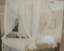 Sheer Bed Canopy Mosquito Netting  White Fits Twin Queen King ~ Romantic!