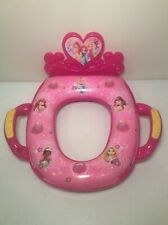Ginsey Disney Princess Childs Toilet Seat Cover Potty Trainer Animated Sounds