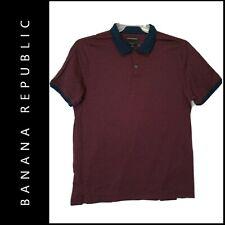 Banana Republic Men Career Formal Standard Slim Fit Polo Shirt Size Large