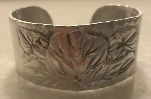 Vintage Rare Everlast Hand Forged Aluminum Metal Cuff Bracelet