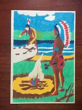 VTG VENUS PARADISE? COLOR BY NUMBERS INDIAN PICTURE