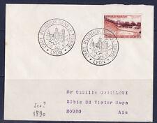 ec57/ Enveloppe    l'art religieux dans le timbre  Lyon     1957
