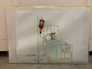 RARE OOP Ralph Steadman Hunter S Thompson Whiskey Drip Fear Loathing Poster
