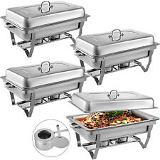 4Pack Chafer Chafing Dish 8Qt Buffet Server Restaurant Service Warm Tray Set.Us