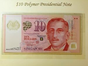 Singapore ND (2004) $10 Polymer Commemorative Polymer Banknot {{ MAS }}  -RARE-