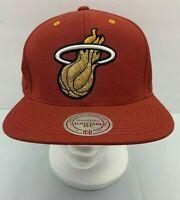 NBA Miami Heat NEW Mitchell & Ness Cork Brim Hat Rare Style FAST SHIP