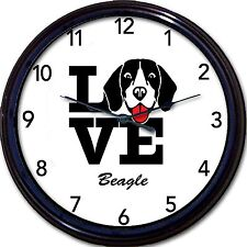Beagle Dog Wall Clock Love Canine Dogs New 10""
