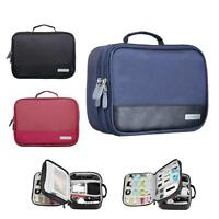 Universal Cable Organizer Electronics Accessories Case USB Phone Travel Bag TW