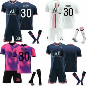 UK 21/22 Kids Team Full Kits Youth Custom Football Jersey Soccer Training Strips
