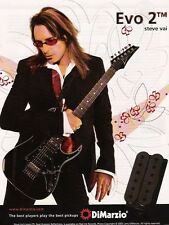 Original Print Ad For DiMarzio Evo 2 Steve Vai Guitar
